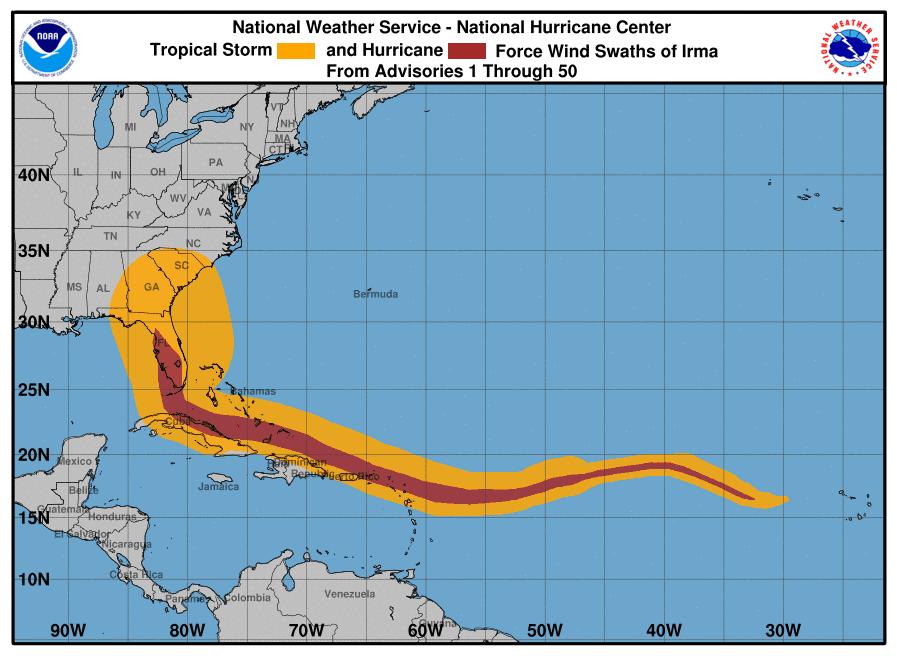 Serpent-like hurricane Irma